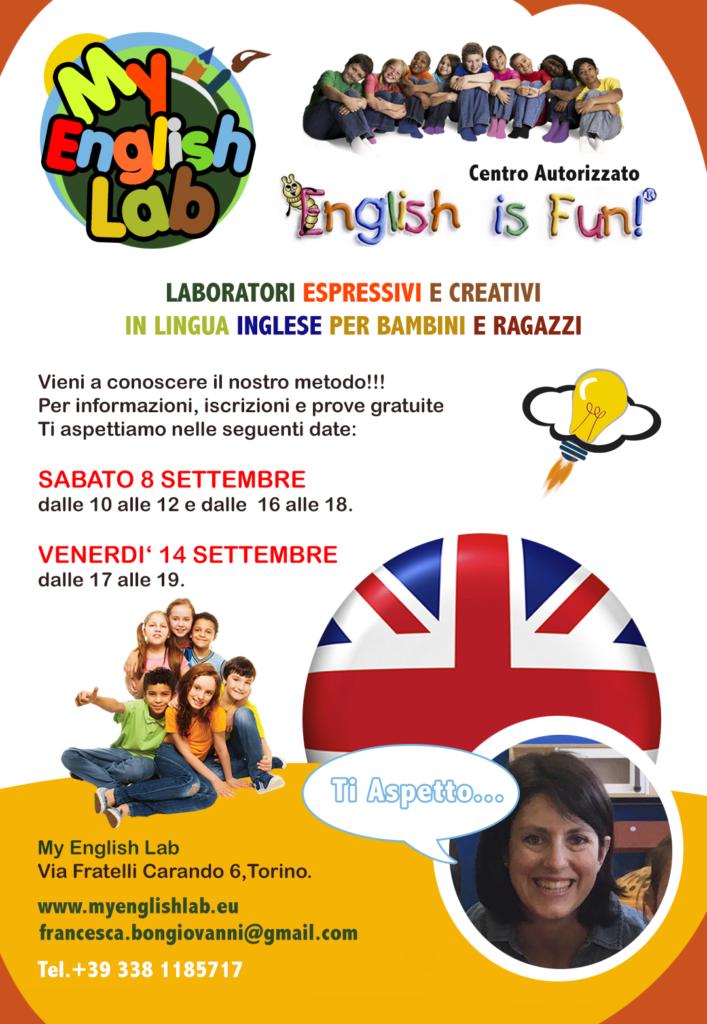 """Inizio Corsi """"English Is Fun!"""" - Lezione Prova Gratuita"""